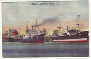 P204 JLs 1951 tampa fl skyline harbor ships