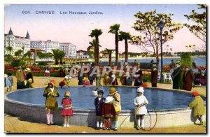 Cannes Old Postcard New gardens