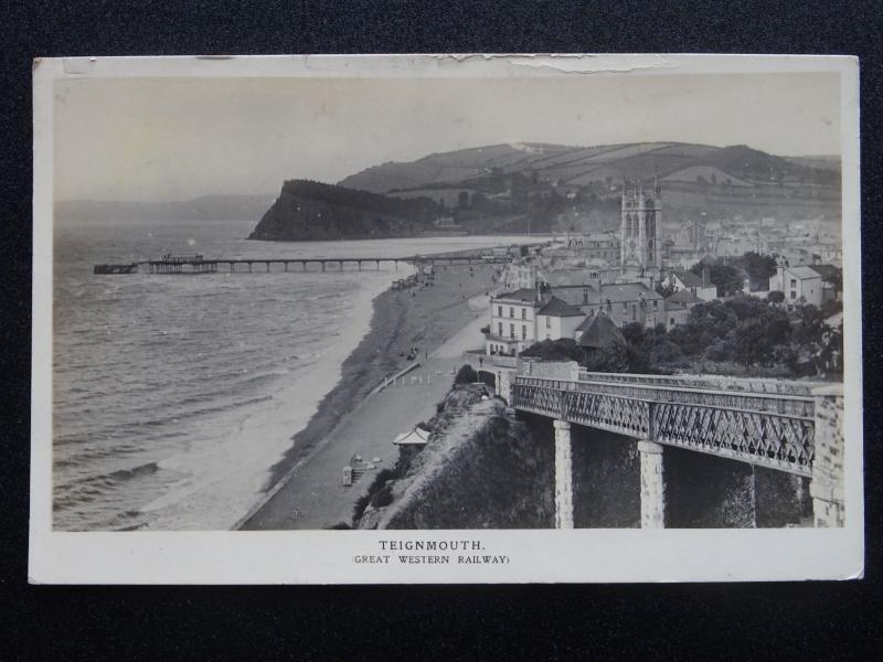 G.W.R. Official Great Western Railway TEIGNMOUTH c1912 RP Postcard