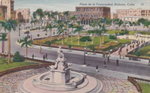 Cuba Havana Plaza de la Fraternidad 1953 sk6939