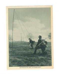 Mint RPPC WW 2 Germany Wehrmacht Army Real Picture postcard signals unit