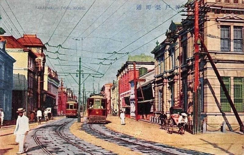 Japan Sakaemachi-Dori Kobe Street Trams