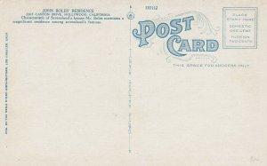 HOLLYWOOD, California, 1910-20s; John Boles' Residence, 2265 Canyon Drive