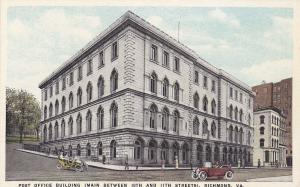 RICHMOND, Virginia, 1900-10s; Post Office Building, Main between 10th & 11th Sts
