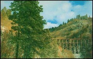 USA Post card - Old Cloudctoft Railroad Trestle, unused
