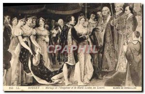 Postcard Old Rouget Marriage of the Emperor and Mary Louisse the Louvre