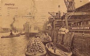 Germany Hamburg Hafenpartie boats ships schiff 1910