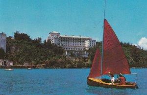 HAMILTON, Bermuda, PU-1961; The Castle Harbour Hotel, Sail Boat