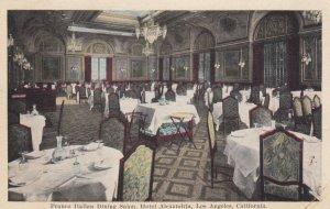 LOS ANGELES, California, 1921; Franco Italian Dining Salon, Hotel Alexandria