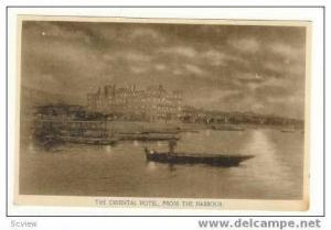 The ORIENTAL Hotel, from the Harbour, 00-10s
