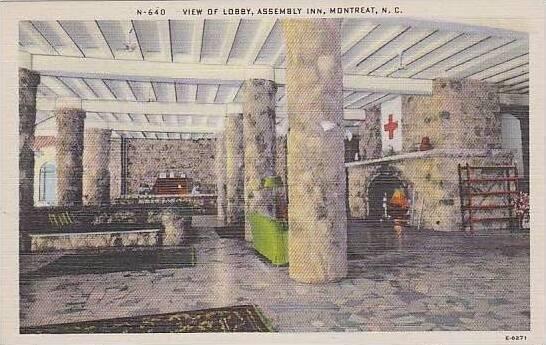 North Carolina Montreat View Of Lobby Assembly Inn