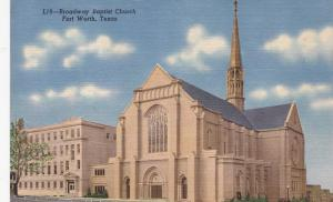 FORT WORTH , Texas , 30-40s; Broadway Baptist Church