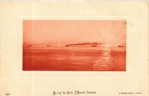 CPA Geiser 409 Au levé du Soleil. L'Escadre francaise ALGERIA (705662)