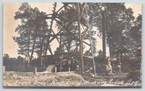 Hickory Ridge Arkansas~Evans Bros Rice Field~Water Pumping Station~c1915 RPPC