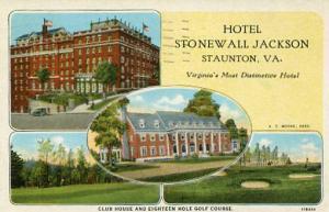 VA - Staunton. Hotel Stonewall Jackson