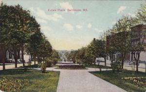 BALTIMORE, Maryland, 1900-1910´s; Eutaw Place