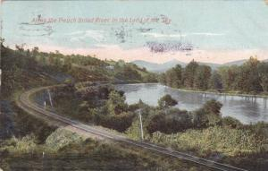 Scenic View, Railroad Tracks Along French Broad River, In the Land of the Sky...