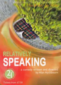 Relatively Speaking Alan Ayckbourn New Vic Theatre Poster Postcard Style Card