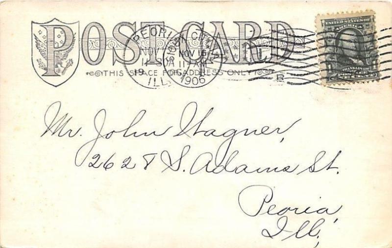 Sioux City Iowa~Commercial Club~Lawn Table~1906 B&W Postcard