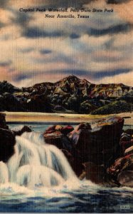 Texas Palo Duro Park Capitol Peak Waterfall
