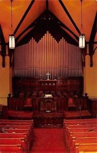 Marion Iowa~First Presbyterian Church~Interior~Pipe Organ~1960s Postcard