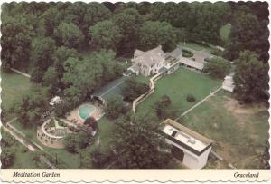 Meditation Garden, Graceland, home of Elvis Presley, Postcard