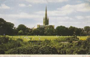 NORWICH Cathedral from the South East, Norfok, England, United Kingdom, 40-60s