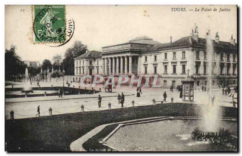 Tours Postcard Old courthouse