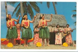 United States, Hula Girls, Hawaii, 1966 used Postcard