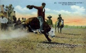 Western Postcard Postcards  Calf Riding