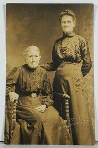 RPPC Susan Lapole & Minnie V. Wood Hoedwohl Studio Hagerstown Md Postcard K2