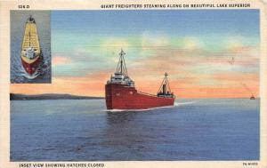 10997   Great Lake Cargo Steamer on Lake Superior