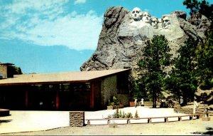 South Dakota Black Hills Mount Rushmore National Memorial and Memorial View B...