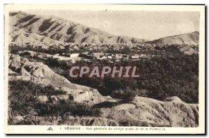 Old Postcard Negrine Vue Generale Arab village and the Palmeraie