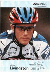 USPS Pro Cycling Team - Post Card - Kevin Livingston - Mint