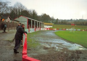 Non-League Football Ground Postcard, Hastings Town FC, The Pilot Field, Sussex