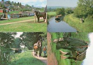 Tiverton Canal Devon Horse Drawn Boat Halberton 4x Postcard s