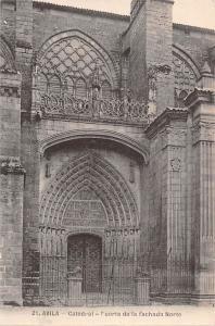 Spain Avila Catedral Fuerta de la fachada Norte Cathedral Dom