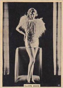 B A T Vintage Large Cigarette Card Grace & Beauty No 2 Claire Dodd  1938