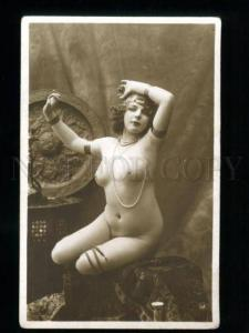 135542 NUDE Woman BELLY DANCER Vintage PHOTO JA #61 PC