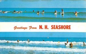 New Hampshire Seashore Surfing Recreation Multiview Vintage Postcard K62800