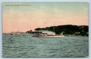 Postcard NJ Asbury Park Deal Lake Wortman's Boat Rentals c1910 View O01