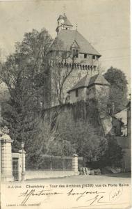 CPA Chambery - Tour des ARchives vue de Porte Reine (109141)