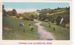Michigan Greetings From Gladstone 1928