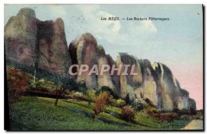 Old Postcard Les Mees The picturesque rocks