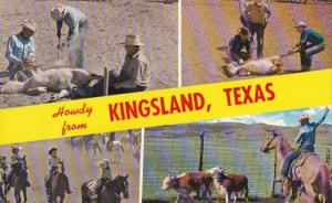 Texas Howdy From Kingsland Showing Cattle Ranching Scenes