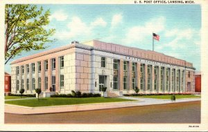 Michigan Lansing Post Office Curteich