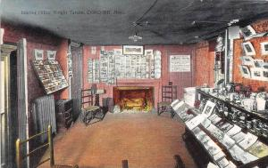 26265 MA, Concord, 1917, Wright Tavern, Interior Office, fireplace in back
