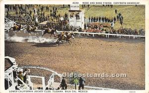 Nose and Nose Finish, Coffroth Handicap, Lower California Jockey Club Tijuana...