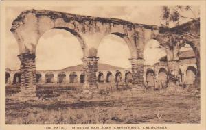 The Patio Mission San Juan Capistrano California Albertype